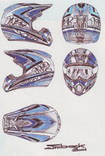 Bienvenue sur la page de l 39 ann e 2001 jean michel bayle - Dessin casque moto ...